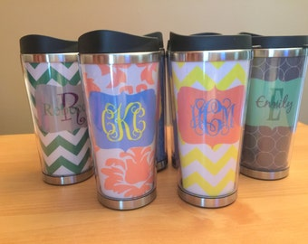 Bridesmaid Gift Cup - Personalized Stainless Travel Mug - Travel Coffee Tumbler - Teacher Gift