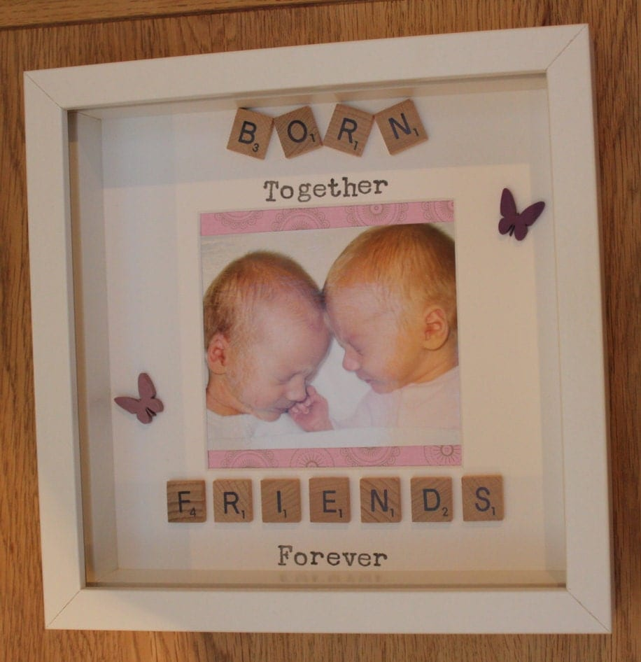 Born Together Friends Forever scrabble art picture photo ...