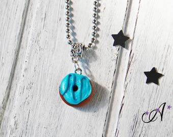 necklace fimo polymer clay pendant donut