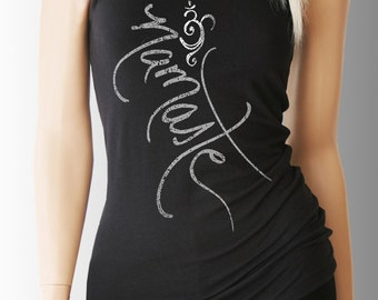 Namaste Shirt. Namaste Tank Top. Yoga Shirt. Yoga Clothing. Lotus Shirt. Yoga. Workout Tank. Workout Shirt. Exercise Clothing. Fitness