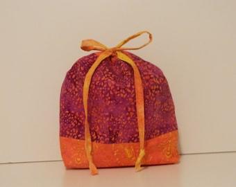 Drawstring Bag, Knitting Project Bag, Stuff Sack, Sock Sack, Crochet Project Bag
