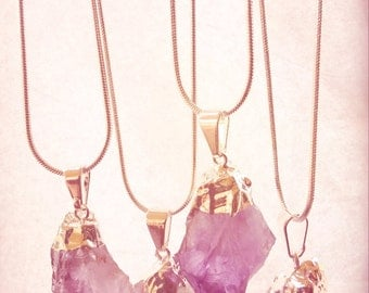 Amethyst Natural Point Necklace