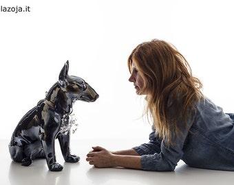 Bull Terrier dog ceramic