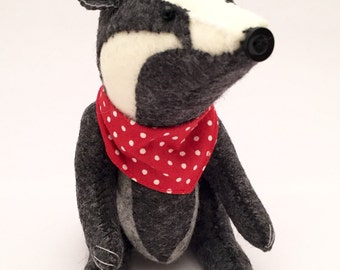 Handmade Badger (Wind in the Willows) - 100% Wool felt