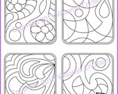 Strings for drawing zentangles. Tangle pattern string, PDF.