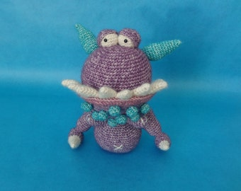 Crochet monster, amigurumi monster, stuffed toy, cuddly toy, boy gift, girl gift, childrens present, gifts under 50, cute gift