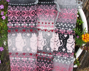 Leg Warmers knit Leg Warmers womens leg warmers boot cuffs Norwegian Christmas socks wool socks leggings knit socks girl thigh high socksа