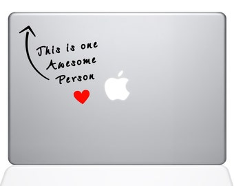 Awesome Person apple macbook laptop decal sticker