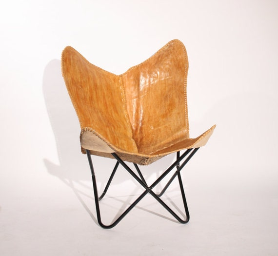new handmade leather butterfly chair by butterflychairshop. Black Bedroom Furniture Sets. Home Design Ideas