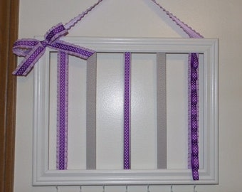Purple & Gray Headband Holder