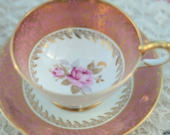 Stunning Pink Aynsley China Tea Cup