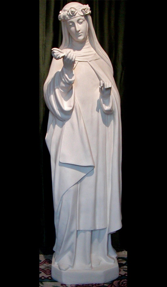 "St. Rose of Lima 51"" Fiberglass Statue (SALE)"