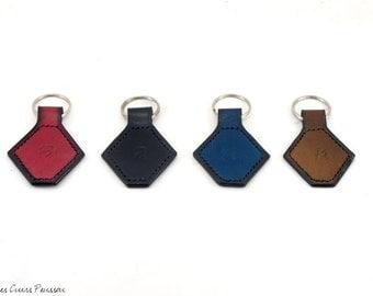 Leather Key Ring - premium leather