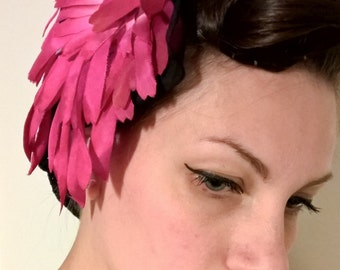 Vintage 1950 's fascinator coming from an old italian millinery
