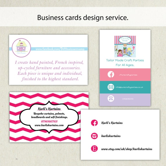 Business card design service business card template for Mini business cards template