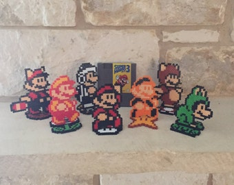 Super Mario Bros 3 Power Up Perler Bead Sprites