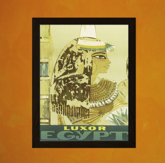 Egypt Travel Print 1950s Vintage Travel Poster Egypt Poster
