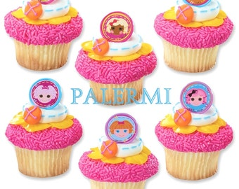 LALALOOPSY Cupcake Toppers, Lalaloopsy Cupcake PICK, LALALOOPSY Party Favors