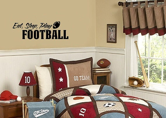 Football Wall Decal, Football Decals, Sports Decals, Boys Sports Decal ...