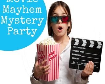 Movie Mayhem Mystery Party - a detective game for children, children's birthday party, kids' mystery party, children's detective game