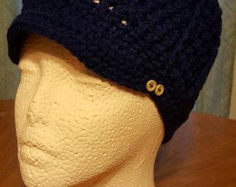 Crochet Newsboy hat/newborn child teen men/winter/christmas