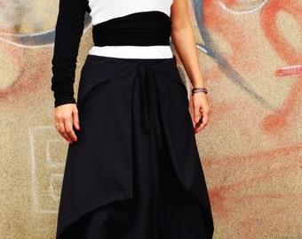 Japan Skirt/Pant/ Low Drop Crotch Trousers/ Harem Pant/Culotte Trousers/Minimalist Samurai Pant/Capri Trousers
