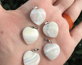 Mother of Pearl Heart Bead Pendant