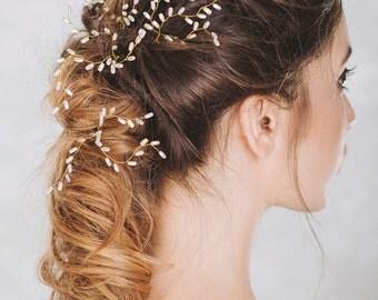 Bridal Hair Pins, Set of 3 Wedding Hair Pin, Pearl bobby pins, Bridal HairPins,  Pearl Hair Pins, Wedding Hairpiece,Wedding Hair Accessories