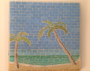 West Wight Potter 15 Sailboat Mosaic Art Piece