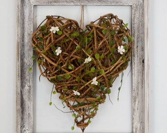 Wood Heart Wall Decor | Rustic Wall Decor | Farmhouse Decor | Driftwood Vine Heart | Romantic Decor