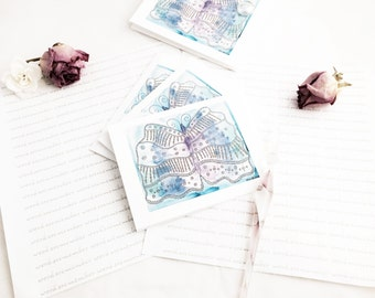Butterfly Notecards, Gifts for Writers, Watercolor Notecards, Notecard Set, Gifts for Her, Cute Stationery, Mom Gift, Letter Writing Kit