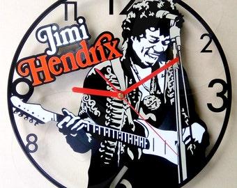 Vinyl wall clock - Jimi Hendrix