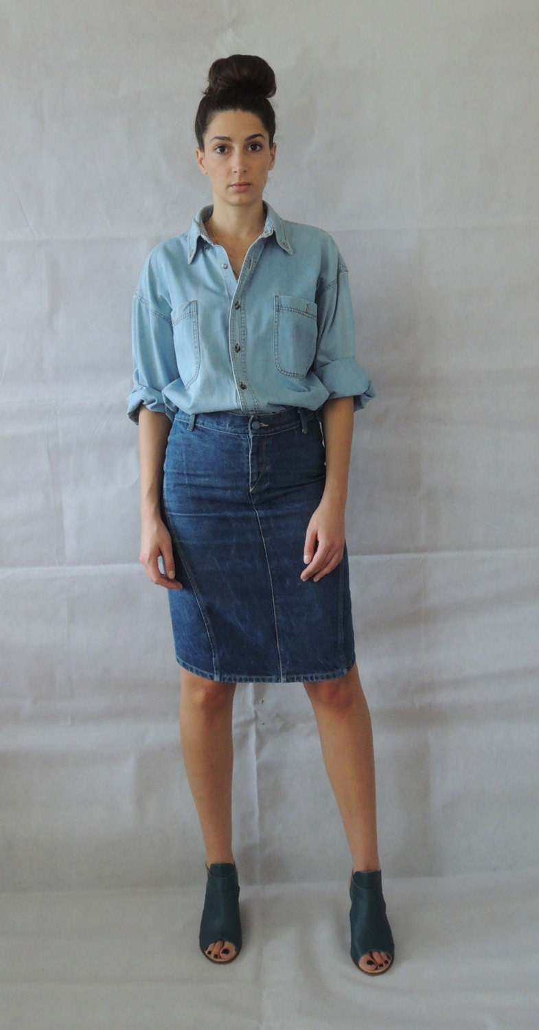 long vintage denim jean -#main