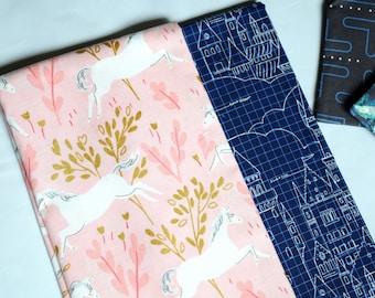 Unicorns and Castles Pencil Zipper Case~ Pencil Bag