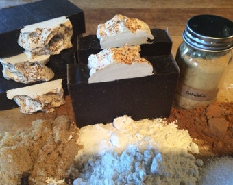 GINGERBREAD SOAP...Acne Soap..with Blackstrap Molasses, Hempseed Oil, Shea butter, and Beneficial Essential Oils