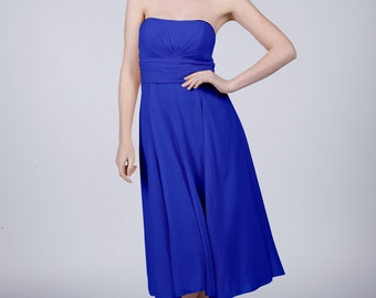 Royal Blue Strapless Short Bridesmaid/Prom Dress by Matchimony