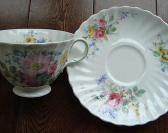 "Royal Doulton - ""Arcadia"" - English Fine Bone China - Vintage Tea Cup and Saucer"