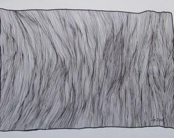 Original freehand drawing, illustration, artwork, abstract, unikat, wall art, fine line art,  1. anniversary gift