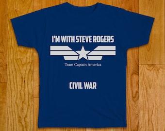 Civil War Marvel T-shirt - Team Captain America