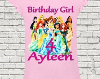 Disney Princess Birthday Shirt - Disney Princess Shirt