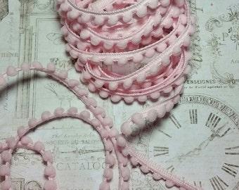 Baby Pink Pom Pom Trim- 2Yds-