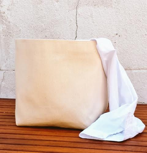 Natural Canvas Laundry Bag Hamper Bucket Bin Extremely Sturdy