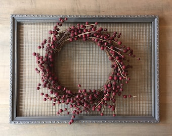 Large Gray Distressed Rustic Chicken Wire Frame