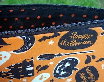 Halloween Night Bag, Halloween Cosmetic Bag