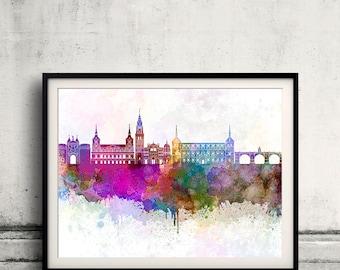 Toledo skyline in watercolor background - Poster Digital Wall art Illustration Print Art Decorative - SKU 1920