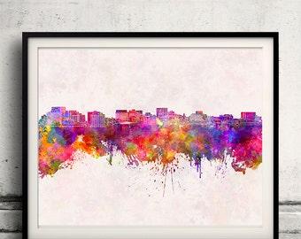 Hobart skyline in watercolor background - Poster Digital Wall art Illustration Print Art Decorative - SKU 1324