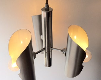 vintage pendant light table lamp RAAK made in Holland Space Age Atomic steel chrome aluminium  60's- 70's