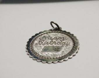 Free Shipping Vintage Happy Birthday Pendant/Charm.