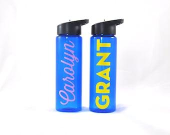 Personalized Sport Bottle - Blue, Custom Water Bottle, Personalized Water Bottle Blue