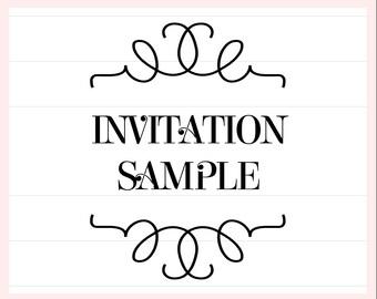 Invitation Set Sample, Use with any Invitation Suite